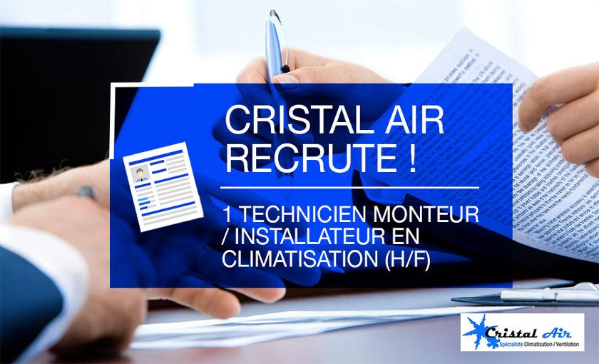 CRISTAL AIR recrute dans le cadre de son projet «Développement 2018/2023»
